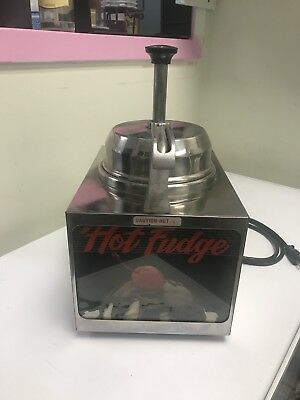 Hot Fudge Warmer Dispenser Server Model Lfspw Cheese Heater Chocolate Fudge 8112