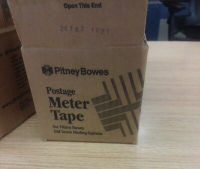 GENUINE PITNEY BOWES POSTAGE METER TAPE DM SERIES 627-8 (2 Rolls) - OPEN BOX