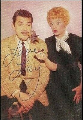Lucille Ball Autographed 'i Love Lucy' 4X6 Color In Ballpoint Pen 1966