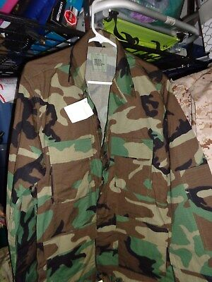 CAMO WOODLAND US MITARY DESERT STORM TACTICAL Shirt X LARGE XL  NEW WITH TAG