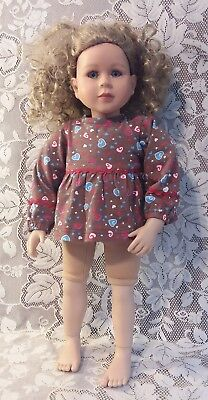 "My Twinn 23"" Doll with Caitie Face Blue Eyes Curly Ash Blonde Hair with Shirt"