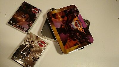 HARLEY-DAVIDSON COLLECTIBLE TIN AND 2 DECKS OF Harley PLAYING CARDS NIB