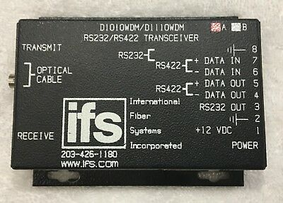 IFS D1010WDMA TRANSCEIVER w/power supply