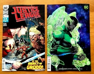 "Justice League 6 Cover A + Jim Lee Cover B Variant "" New Justice "" DC 2018 NM+"