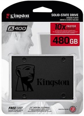 "Kingston A400 2.5"" 480GB Internal Solid State Drive (SSD) SA400S37/480"