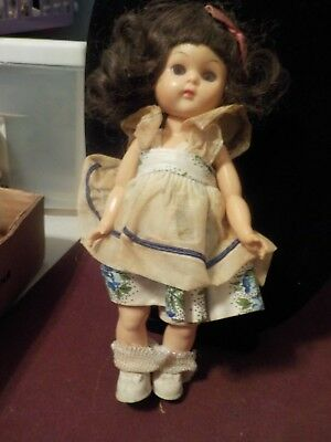 Vintage 8 Inch Madame Alexander Doll Brown Hair
