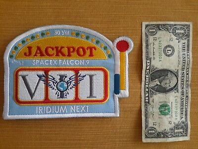 "30SW SpaceX Falcon 9 Iridium Next VII ""Jackpot"" Patch"