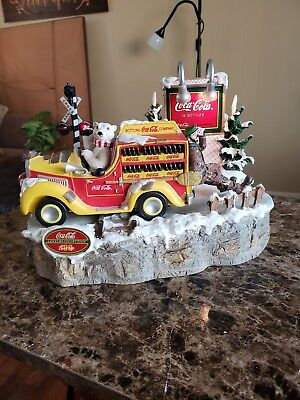 """Limited Edition Coca Cola Motion Musical Emmett Kelly """"Thirst Stops Here"""" Truck"""
