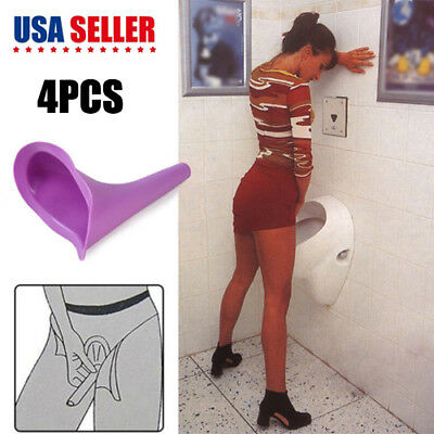 4pcs Urination Toilet Urinal Device Portable Female Women Go Girl Camping Pee US