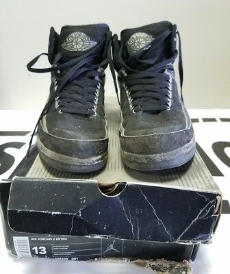9acb15c74301aa Nike Air Jordan 2 II Black Chrome Size US13 308308-001 2004 parts only  beaters