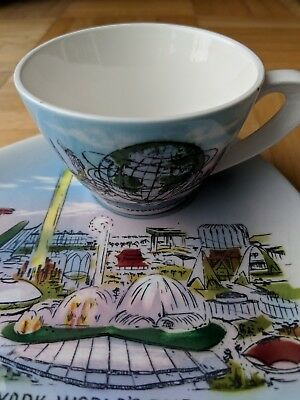 1964-1965 New York World's Fair Cup And Saucer Set-Good Condition-Free Shipping!