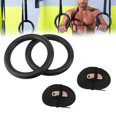 Gymnastic Rings Straps Gym Crossfit Strength Training Pull Up Dips Fitness