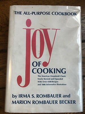 Joy of Cooking Cookbook by Irma S. Rombauer (1982 Hardcover) Vintage