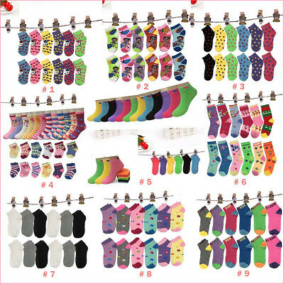 New 6 12 Pairs Cute Pattern Variety Styles Girls Ankle Socks Multiple Size