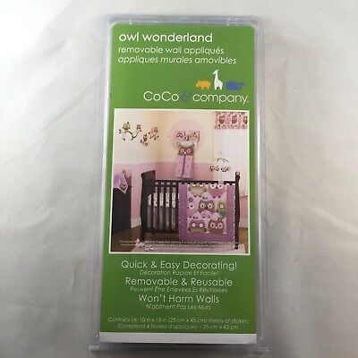 CoCo & Company Owl Wonderland Removable Wall Appliques *Brand New*