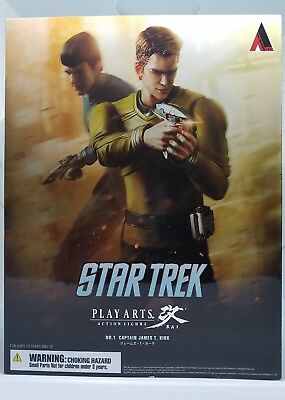 "Star Trek Play Arts KAI 10"" - No. 1 Captain James T. Kirk Action Figure MIB"