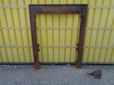"""Antique Victorian Fireplace """"surround"""" Very Ornate W/a Man Face Gothic Good"""