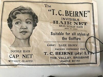 Vintage Hair Net -Made From Human Hair - 2 Hair Nets - 1930's? - Chemist Grocery