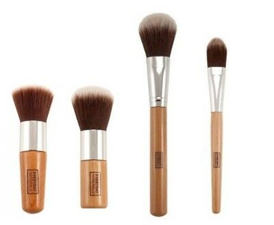 4 pcs bamboo brush set Flat top foundation Face powder Contour High quality UK