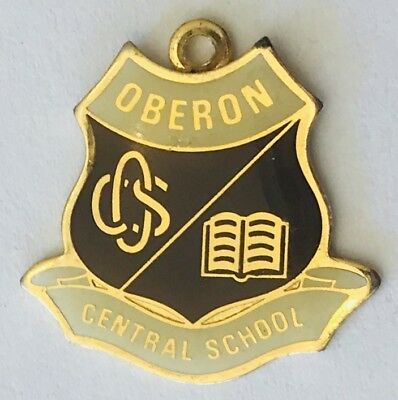 Oberon Central School Charm Badge Pin Rare Vintage (J10)
