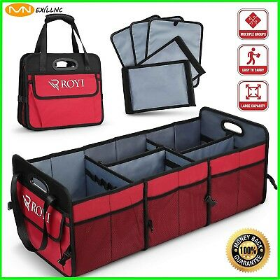 Portable Collapsible Folding Flat Trunk Auto Organizer for Car SUV Truck Van/Top