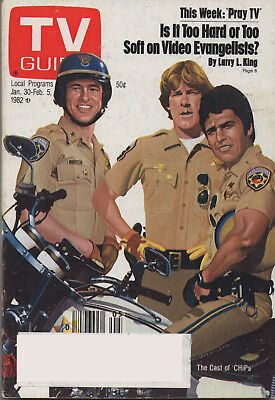 1982 TV Guide The Cast of CHiPS Jan. 30 - Feb. 5