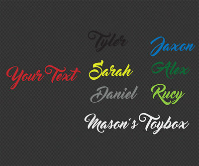 Custom Name Wall Door Sticker Calligraphy Cursive Removable Decal 10~160cm