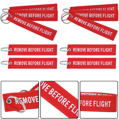 10x Remove Before Flight Keychain Aviation Pilot Bag Crew Tags Luggage Key Ring
