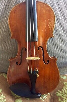 Beautiful old antique 4/4 unlabeled  violin c. 1800's