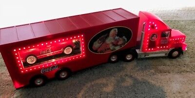 1999 Coca Cola LIT Santa Pack truck w/ trailer & loading ramp for CORVETTE model