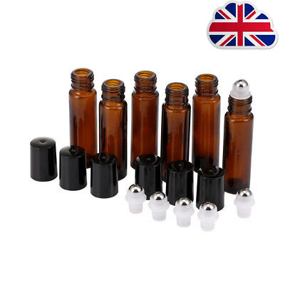 10ml Roll on Glass Bottle Essential Oil Perfume Roller Ball Bottle with Cap L1