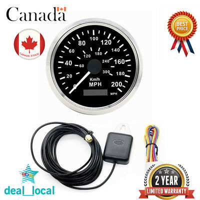 85mm GPS Speedometer Digital Speedo Guage Stainless 200MPH 300KMH for Car Truck
