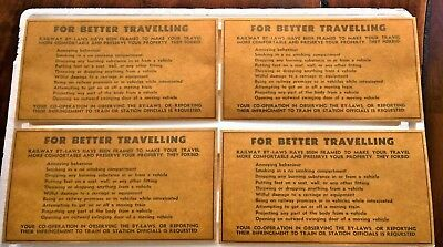 """4"" Vintage Victorian Railways By-Laws Red Rattler Carriage Stickers, Decal!!!!"