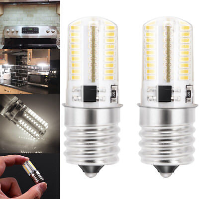 2x E17 LED Bulb Microwave Oven Light Dimmable Natural White 6000K Light Durable