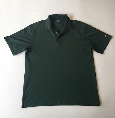NIKE Men's SIZE LARGE Polo Shirt Golf Fit Dry Green