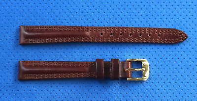 Genuine Leather Brown Thick 12mm R Vintage NOS watchband