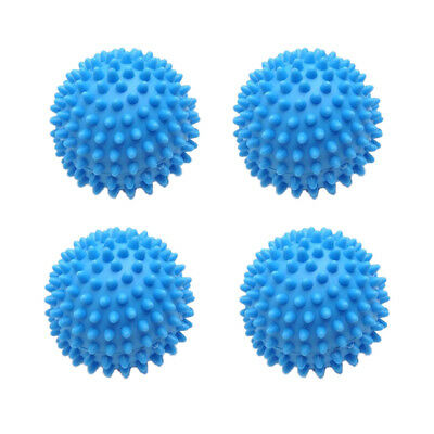 4 PCS Blue Soft Dryer Balls Washing Reusable Laundry Natural Fabric Softener