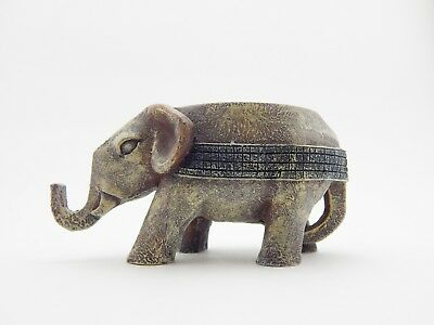 HandMade African Elephant Candle Holder. Wooden Scultpure