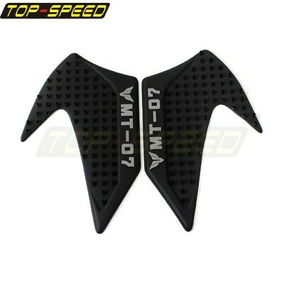 Pair Fuel Gas Tank Rubber 3M Adhesive Pad Protector Sticker Black For Yamaha NEW