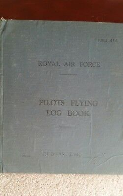 Royal Air Force Pilots Flying Log Book 1943_1944