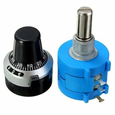 10K Ohm With Turn Counting Dial Rotary Potentiometer Pot 10 Turn USA