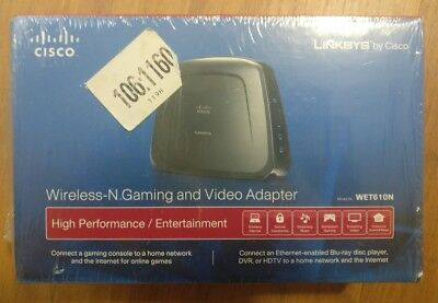 Linksys By Cisco Wireless-N Gaming And Video Adapter Wet610N New Sealed Box