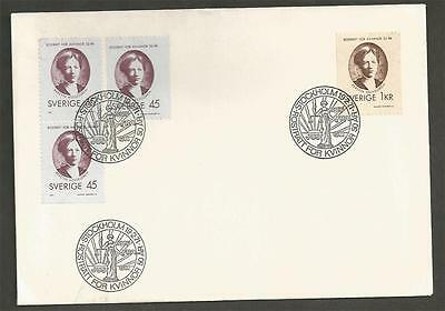 SWEDEN - 1971 Women`s Suffrage   - FIRST DAY COVER