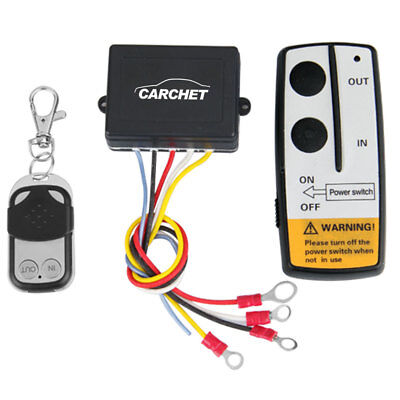 CARCHET Wireless Remote Control Winch Kit For Truck Jeep ATV Car DC12V 50ft