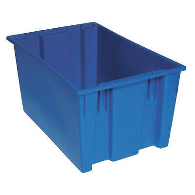 QUANTUM STORAGE SYSTEMS Nest and Stack Container,29-1/2 in,Blue, SNT300BL, Blue