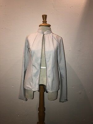Under Armour Studio Jacket Grey Sheer Back Size Small