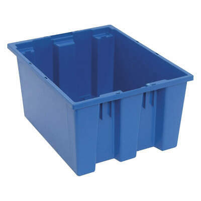 QUANTUM STORAGE SYSTEMS Nest and Stack Container,19-1/2 in,Blue, SNT190BL, Blue