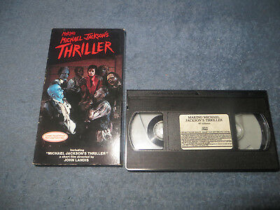 The Making of Michael Jackson's Thriller pre-owned VHS tape 1983