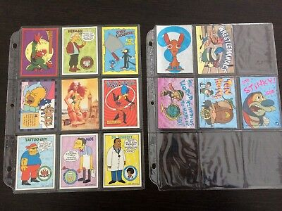 The Simpsons, X-Men and Ren and Stimpy trading cards