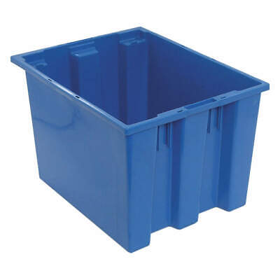 QUANTUM STORAGE SYSTEMS Nest and Stack Container,19-1/2 in,Blue, SNT195BL, Blue